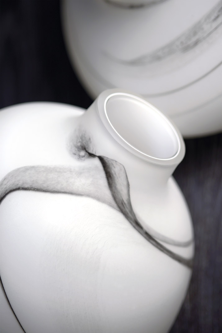 DOMUS VIVENDI vasi bianco nero